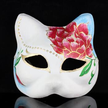 纸浆手绘面具女款 薄款纸浆面具