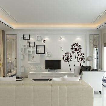 电视背景墙瓷砖客厅微晶石现代简约大理石影视墙边框装饰造型远扬