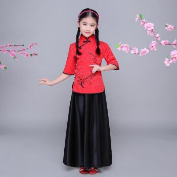 蒂卡黛儿童古装小七仙女公主裙古筝表演服古代唐装汉服贵妃服小女孩