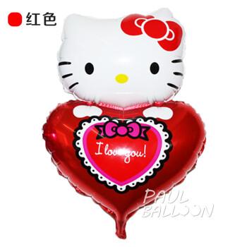 喜节 猫铝箔卡通气球 hello kitty铝膜气球生日派对布置气球凯蒂猫猫图片