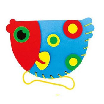 eva卡通动物背包儿童3d立体手工制作幼儿园缝制包包贴画玩具 11