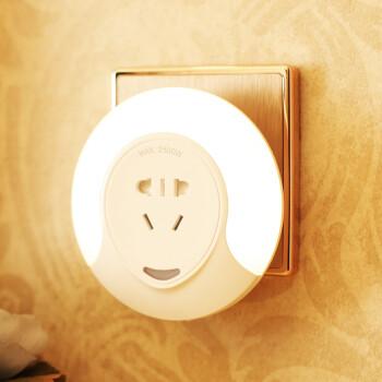 朗美科(Lightmates)插座光控感应小夜灯婴儿喂奶灯床头卧室氛围灯伴睡眠夜光小灯