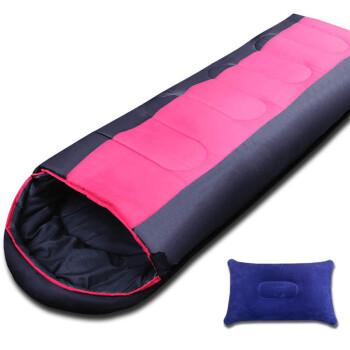 户外睡袋成人春秋冬季保暖睡袋 加宽露营午休棉睡袋 2.20kg加宽款/红色