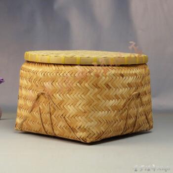 竹编织产品竹箩筐米筐大型收纳篮储物筐篮萝都带盖箩筐