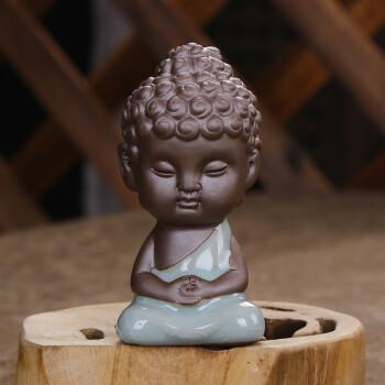 茶宠佛像哥窑小如来小和尚小佛像摆件茶宠多肉茶盘摆件 禅思