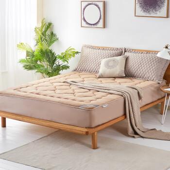 博洋家纺(BEYOND) 床褥床垫 秋冬加厚床褥子可折叠榻榻米席梦思防滑保护床垫 珊瑚绒床褥床笠款180*200cm