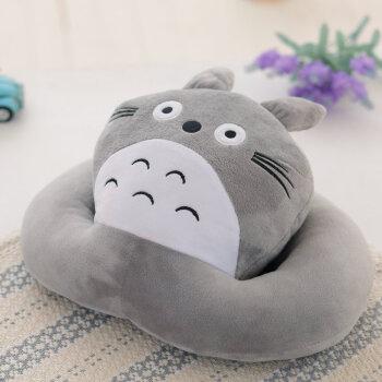 卡通可爱动物午睡枕趴睡枕学生趴枕睡觉枕头办公室午休枕抱枕 龙猫