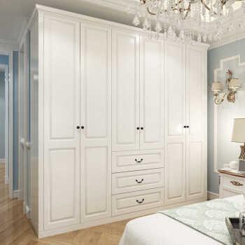 五六门衣柜开门欧式开门衣柜衣柜白色五六门欧式白色烤漆衣柜卧室衣橱