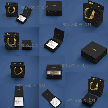 华洛芙 vi提案样机品珠宝首饰包装盒子手提袋设计ps模板贴图素材v99图片