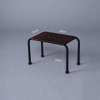 知茗创意小藤条凳子手工编织藤条仿墨君藤椅喝茶凳休闲矮凳子 小长凳
