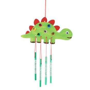 幼儿园新年创意材料儿童自制作幼儿手工diy木质风铃单个装 恐龙 丙烯