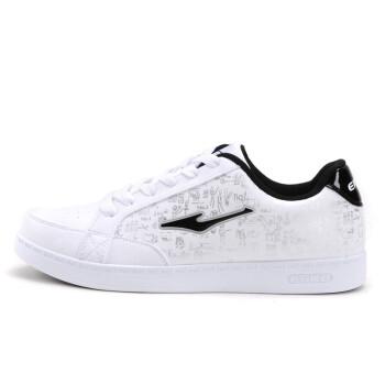 鸿星尔克运动鞋男板鞋男鞋2015年春季新款韩版潮男白色休闲鞋学生旅游滑板鞋男款 白黑 41