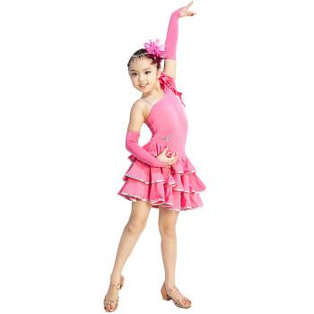 新款 儿童拉丁舞裙演出服装女童幼儿表演练功服比赛