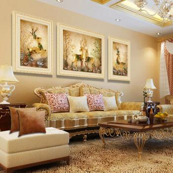 艺米 简欧客厅装饰画欧式沙发背景墙画美式玄关壁画现代餐厅走廊过道图片