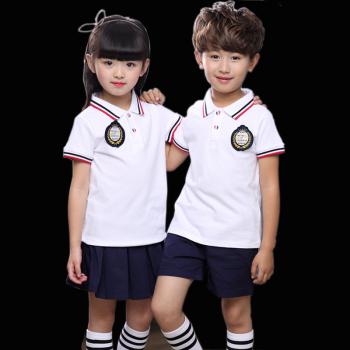 学生季儿童班服老师演出服款运动装幼儿园0-1-2-3-8-12岁 黄色男童t恤