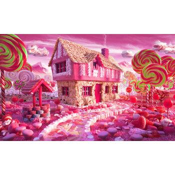 钻石画5d圆钻砖石画糖果屋风景贴画卡通儿童满钻贴画钻石十字绣 满钻