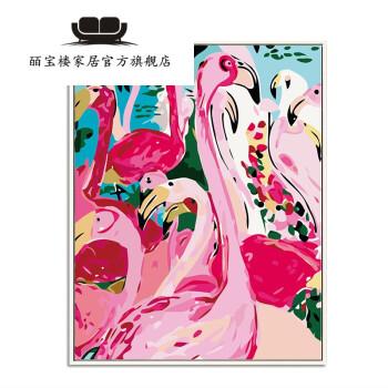 皕宝楼diy数字油画客厅餐厅动物自己手工绘画填色装饰