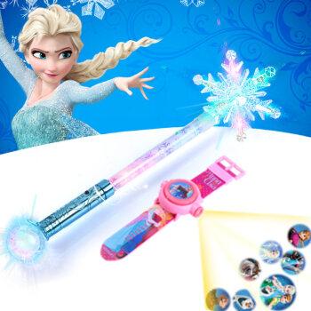 冰雪奇缘魔法棒艾莎雪花发光权杖魔杖玩具吧啦拉小魔仙棒新年礼物 天