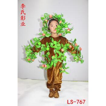 新款大树表演服儿童小树演出服松树柏树圣诞树舞蹈服男女大树服装w