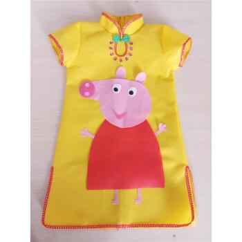 手工制作环保服装儿童时装秀演出服幼儿园走秀服装女公主裙子装 明