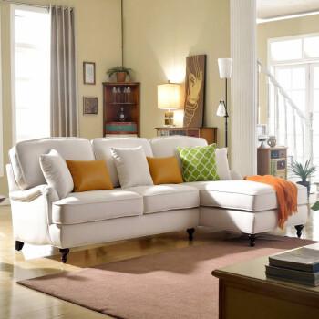 优梵艺术 单人沙发欧式双人三人转角贵妃沙发组合客厅布艺沙发大小户图片