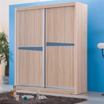 家私 现代移门衣柜 趟门推拉门衣柜二门衣柜宜家板式大衣柜 移门衣柜