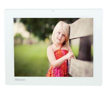 影巨人(Halfsun)HF558A 12英寸 数码相框 高清分辨率 大屏幕 钢化玻璃材质 白色