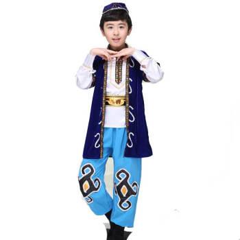 儿童六一新疆维吾尔少数民族儿童回族舞蹈表演服装哈萨克族舞台演出