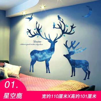3d立体创意ins墙贴纸贴画北欧墙画卧室房间墙面装饰墙纸自粘壁画 01