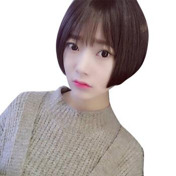 韩乐丝(hanlesi) 假发女短发帅气中性网红气质逼真蓬松发型时尚短直发图片