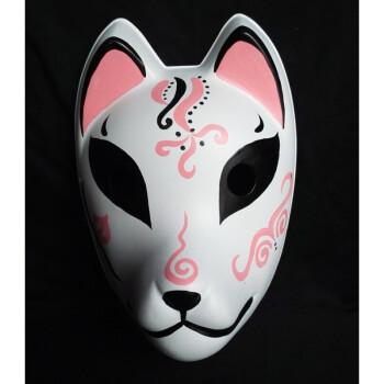 萤火之森 阿金手绘面具 狐狸妖狐和风全脸面具塑料款