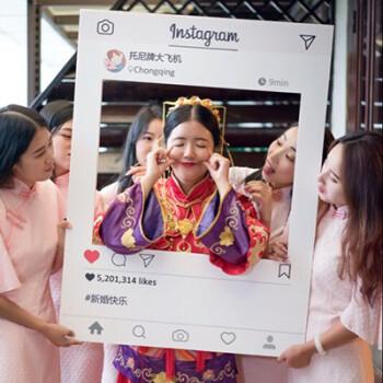 instagram相框手持拍照边框活动婚礼生日ins少女心朋友圈拍摄道具 ins