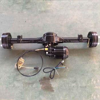 snblo 电动三轮车后桥带电机总成电动三轮车改装桥管传动总成变档后桥图片