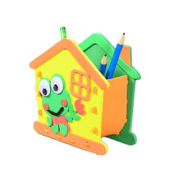 eva贴画diy创意笔筒手工制作材料包幼儿园子活动玩具 创意笔筒 青蛙
