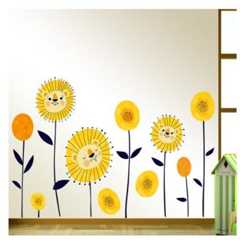 卡通墙贴动物贴纸儿童房贴画幼儿园玻璃门窗教室班级布置双面墙贴