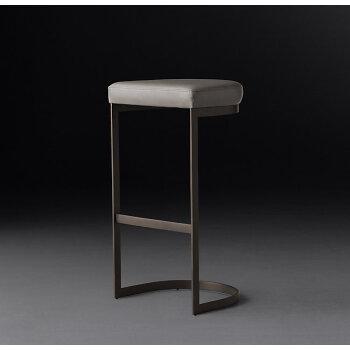 北欧风格休闲吧台椅高脚凳吧台椅子靠背 简约现代餐厅