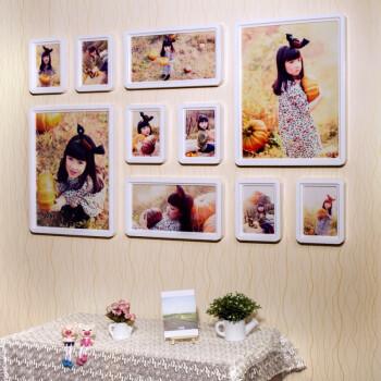 相框墙创意组合大墙面韩式百搭儿童婚纱挂墙 摆法二(074) 冲洗照片图片