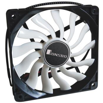 乔思伯(JONSBO)12020 12CM机箱风扇(20MM薄型厚度/主板3PIN接口+电源D型口接口/静音)