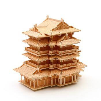 木制立体拼图3d高难度木质建筑手工制作木头模型超大城堡 滕王阁