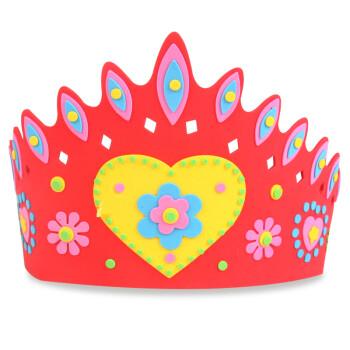 eva皇冠幼儿园儿童手工diy制作立体粘贴画头饰创意美劳生日帽玩具 -
