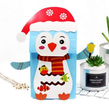 动物纸袋卡通手偶幼儿园手工材料包diy儿童创意粘贴制作玩具 手偶