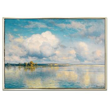 简欧法式手绘风景油画 美式餐厅客厅手绘油画有框 天空之境sn9172图片