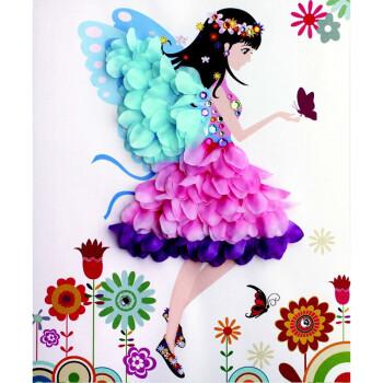 宝宝幼儿园儿童手工制作diy材料包花朵钻石画创意花瓣粘贴带相框 花朵图片
