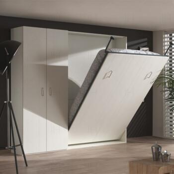 隐形床壁床多功能折叠小户型客厅创意空间收纳五金配件双人衣柜床 1.图片