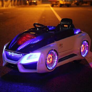 福儿宝儿童电动车双驱四轮宝宝可坐遥控童车小孩汽车电瓶车玩具四轮减震 白色