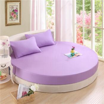 y4订做纯棉圆床床笠单件全圆形棉宾馆床单四件套床罩床垫保护套sn9005