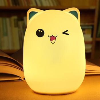 创意可爱七彩led萌熊硅胶拍拍灯减压玩具礼品生日礼物送朋友 调皮熊