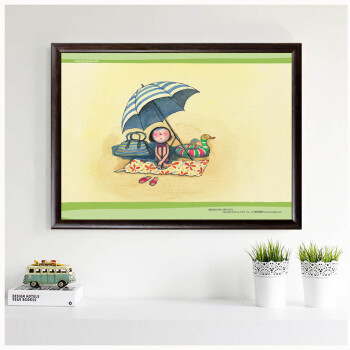 居梦坞漫画客厅漫画少女卧室装饰画有框画现几米肉a漫画番插画里图片