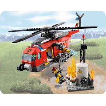 lego 乐高 city 城市系列 消防直升机 60010