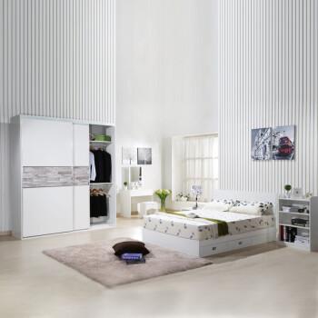 居整体卧室套房衣柜 床 床头柜 梳妆台 书架家具套装可定制2085 1.5